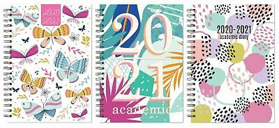 2020/2021 A5 Week to View Academic Diary PP Spiral Mid Year Student TeacherDiary