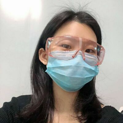 Safety Goggles Glasses Eye Protection Lab Anti Dust Clear Lens USA White