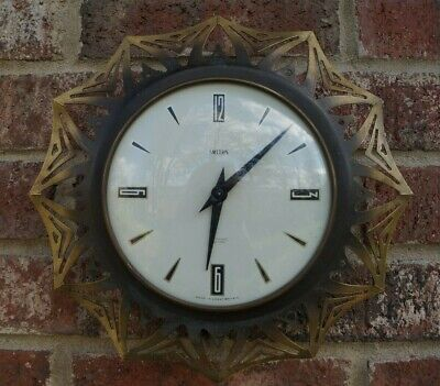 Retro Smiths SECTRIC wall clock.