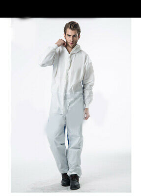 D9 Adult Disposable Non woven Fabric Antistatic Protective Suit Coverall 1 Pcs A