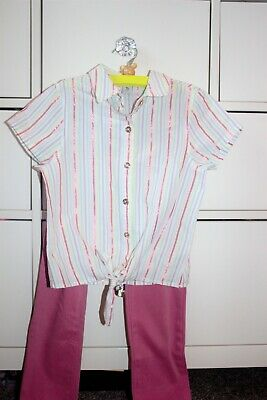 Girls Pink Slim/long Jeans And Top Outfit 7-8y. Old Navy And TU
