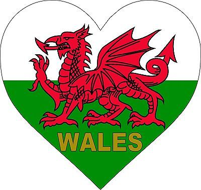 welsh flag Dragon /& Feathers Sticker 102mmx50mm exterior wales car decal sticker