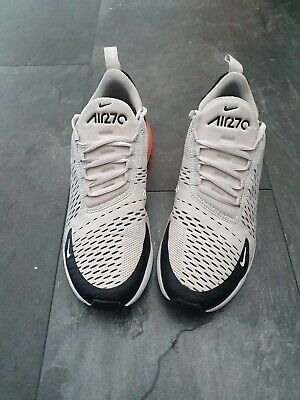 MENS NIKE AIR Max 270 Trainers, Light Bone Hot Punch , Size