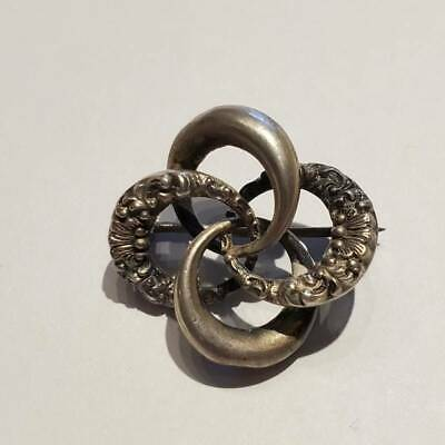 Antique Victorian Sterling Silver Love Knot Pin