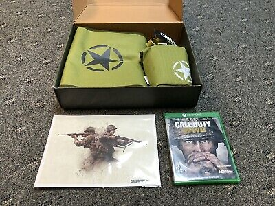 Call Of Duty WW2 Collectors Box Backpack Canteen Print/Picture & Game