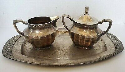 Vintage~ Community Plate~Coronation~Silverplate Sugar and Creamer, and Tray