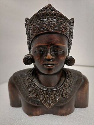 Antique Asian / Oriental Hand Carved Bust