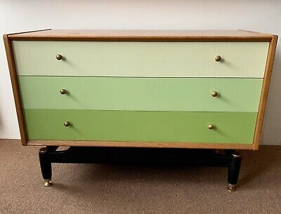 G Plan/E Gomme Chest Of Drawers Chinese White Range C.1950s Mid Century Modern