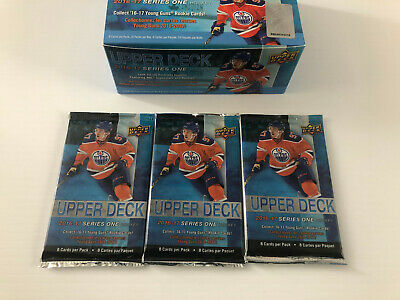 2016-17 Ud Series 1 Hockey Cards 3 Pack Lot Auston Matthews Young Guns?