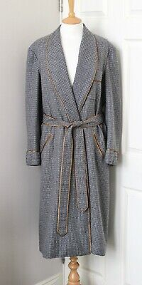 "SULKA gorgeous bespoke Pure Cashmere robe smoking gown 40""/102cm"