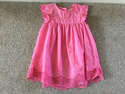 Next Girls Pink Embroided Top / Tunic, / Blouse, Age 2-3 - Excellent Condition