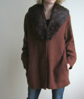 vintage auth FUR COLLAR SHAWL