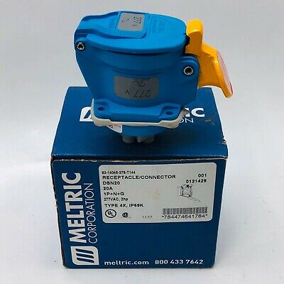 Meltric Corp 63-14045-375-T144 Receptacle / Connector Dsn20 20A Type 4X, Ip69K