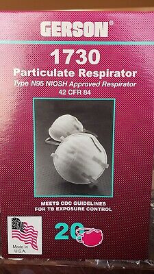gerson #1730 n95 particulate respirator mask