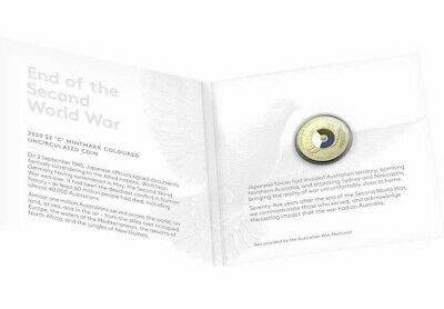 75th Anniversary of the End of WWII 2020 $2 C Mintmark Al-Br Uncirculated Coin
