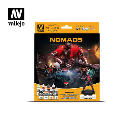 Vallejo Model Color Set Infinity Nomads Exclusive 8 paint & figure VAL70233