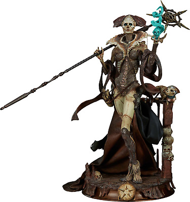 "COURT OF THE DEAD - Xiall: Osteomancer's Vision 13"" Statue (Sideshow) #NEW"