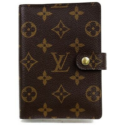 Authentic Louis Vuitton Diary Cover R20005 Agenda PM Browns Monogram 906832