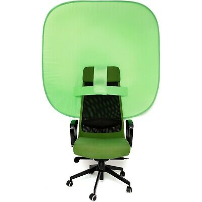 Portable Chair Green Screen - Collapsible Greenscreen Background for Webcam