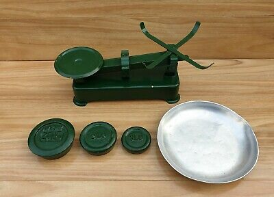 Vintage Kitchen Scales And Weights Green
