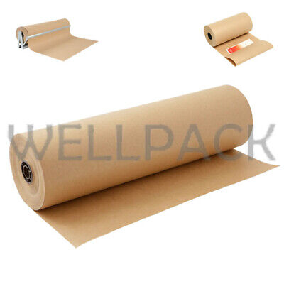 Strong Brown Kraft Parcel Wrapping Paper Rolls Moving House Mailing Sheets 90Gsm