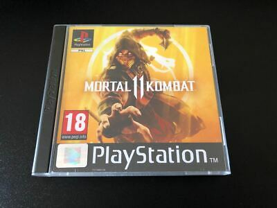 Mortal Kombat 11 MK PS4 Fan Custom PlayStation PS1 Style Covers - No Case