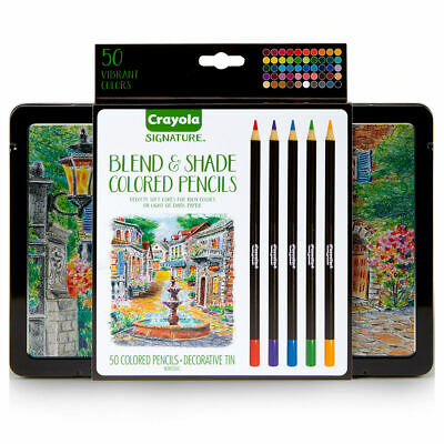 Crayola 50 Blend & Shade Pencils - Artists Premium Pencils in decorative tin