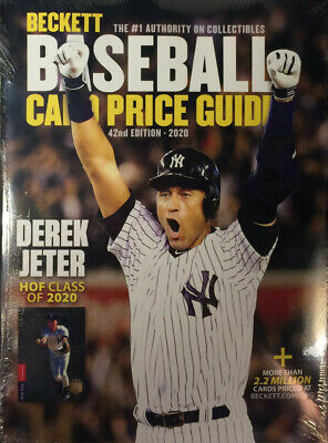 New 2020 Beckett Baseball Card Annual Price Guide 42nd Edition With Derek Jeter