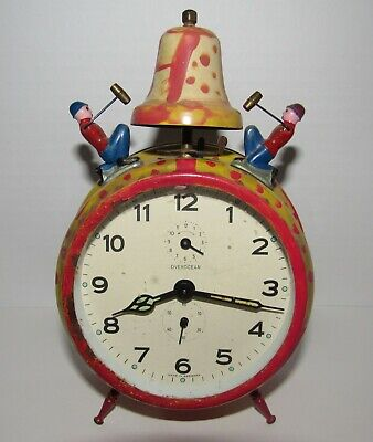 Antique/Vintage Overocean Time/Alarm Clock With Seconds Bit Made In Germany