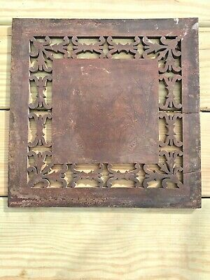 Antique Wooden Floral Hand Carved Panel Plaque Original Veneer from Piano Organ