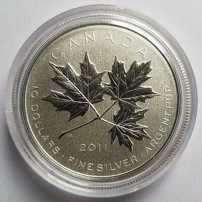 J440 Canada 2013 $10 Pure Silver Maple Leaf Color Proof Coin /& COA Only.$35