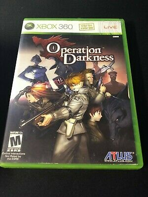 Operation Darkness (Microsoft Xbox 360, 2008) Complete *Read!*