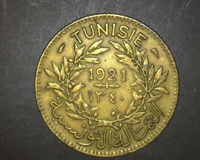 Tunisia 1921 One Franc Km247 Extremely Fine ~Wc536