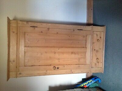 Early Victorian single pine wardrobe