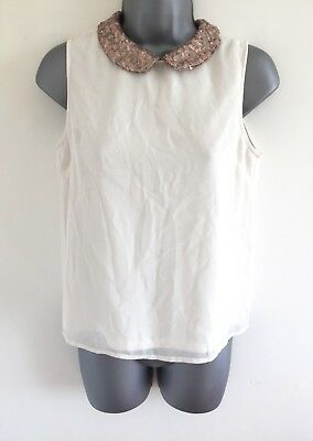 New Look 915 Generation Girls Top Blouse Size 14 Yrs 164 Cm Ivory Off White