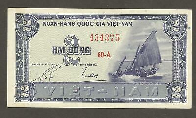 VIETNAM  SOUTH   2  DONG  1955   P.12   About  Uncirculated