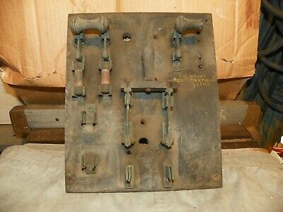 Antique Electric Knife Switches mounted on Slate