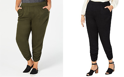 Style & Co. Women's Plus Size Ruched Jogger Pants, Assorted Colors