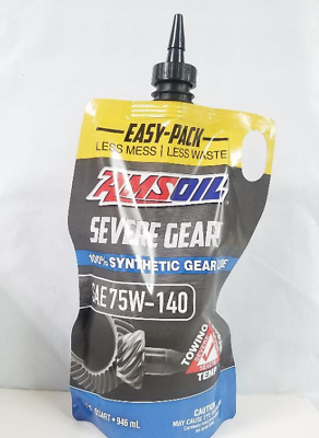 Amsoil Severe Gear SAE 75W-140 Synthetic Differential Lube Chevy Dodge Ford