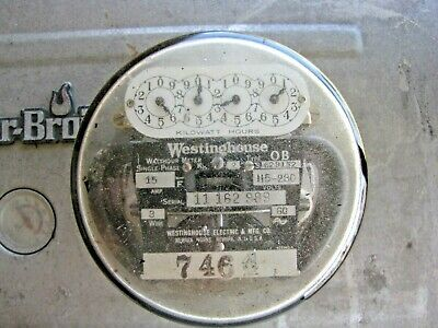 Westinghouse Electric Meter  15 AMP 115 Volts Type OB Vintage Industrial