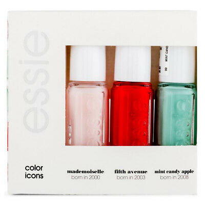 Essie - 1 x Color Icons Mini Trio Nail Lacquer Polish Boxed Set (3 x 5ml)
