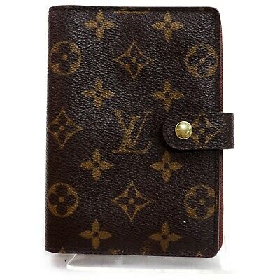 Authentic Louis Vuitton Diary Cover R20005 Agenda PM Browns Monogram 1207385