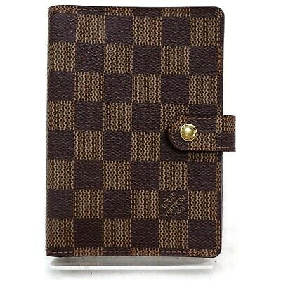 Authentic Louis Vuitton Diary Cover R20700 Agenda PM  Browns Damier 1113466
