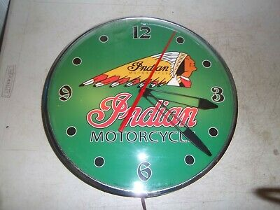 Vintage  Lighted Pam clock   Motorcycles