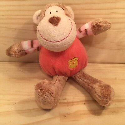 "TOMMEE TIPPEE ""Pink"" Beautiful Noisy Monkey Kid's Stuffed Rattle Soft Toy"