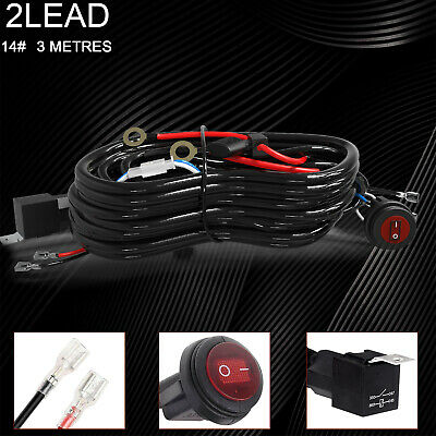 LED ON//OFF Switch For Fog Lights HID Work lamp New Kit Relay Harness Wire