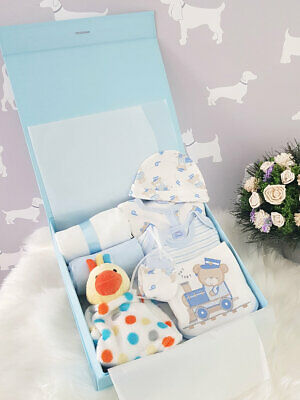 PERSONALISED 'Bears' New Baby Boy Gift Hamper, Baby Shower Present LARGE