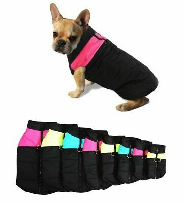 Dogs Pet PADDED Puffer Winter Coat Jacket Warm Insulated Clothes Apparel Costume