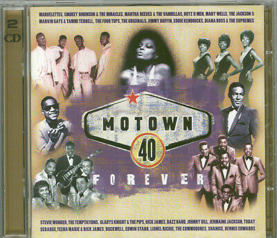 Motown 40 2 CD Album Four Tops Temptations Greatest Hits Very Best Of Collection
