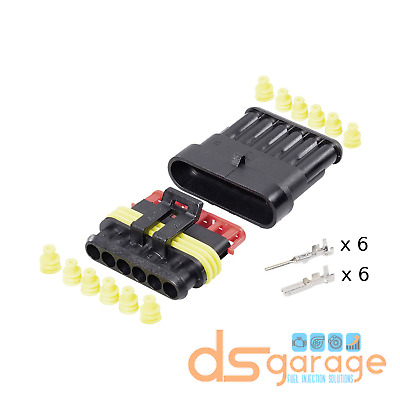 Kit Connettore 6 PIN POLI VIE Superseal AMP Tyco impermeabile completo